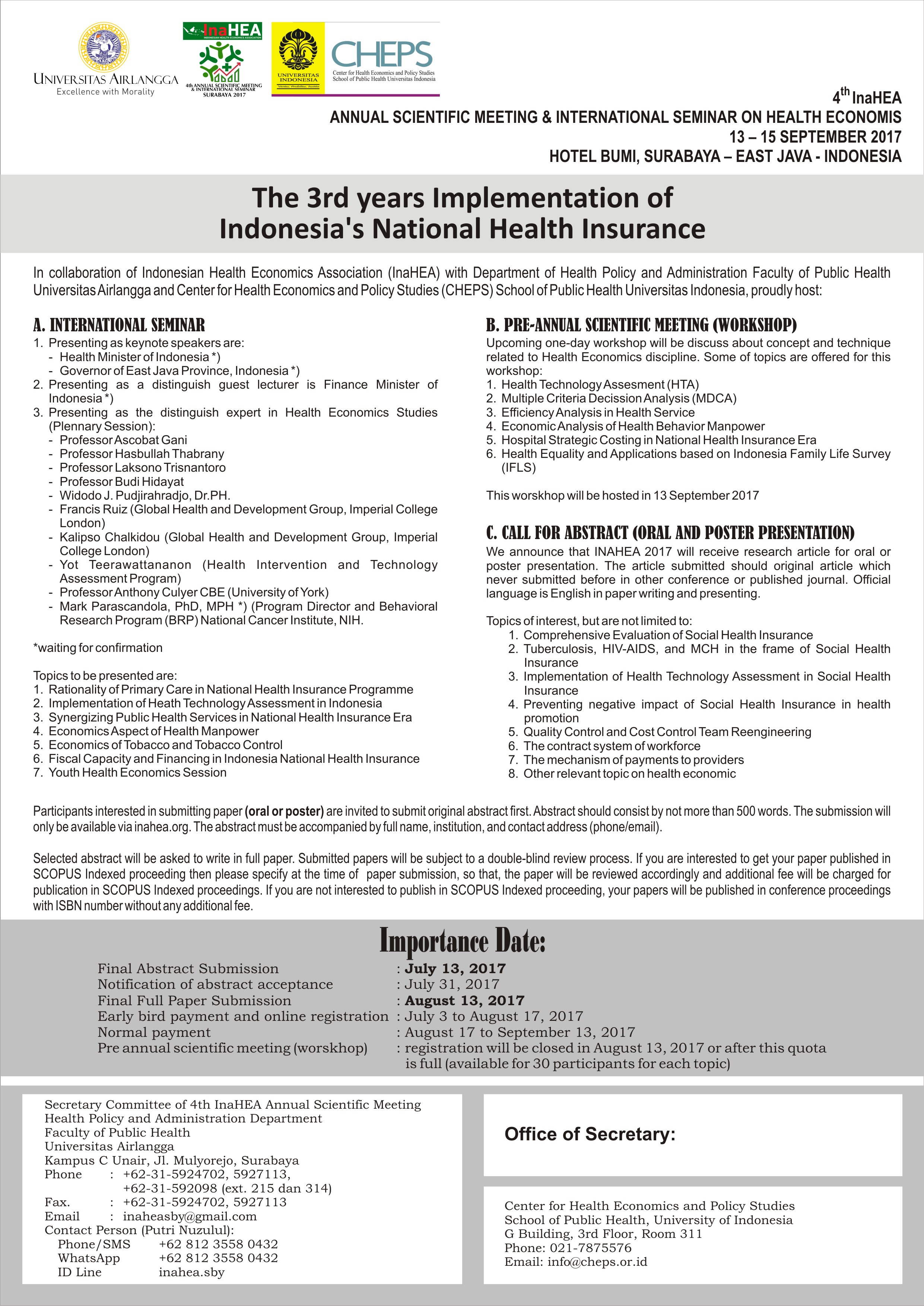 The 3rd Years Implementation Of Indonesia's National Health Insurance
